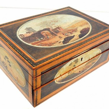 painted sewing box - Sewing