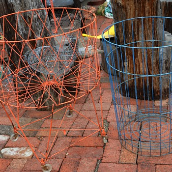 Blue Wire Basket