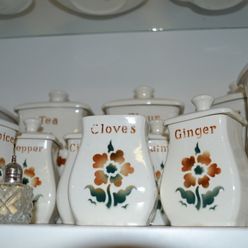 Arabia Spice Canisters. Made in Finland