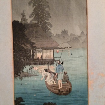 Asian original painting signed on paper