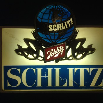 Vintage Schlitz Light-up Sign - Signs