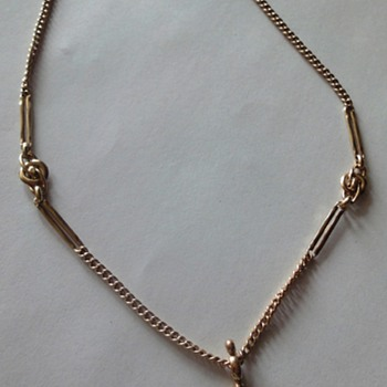 14K Antique Watch Chain