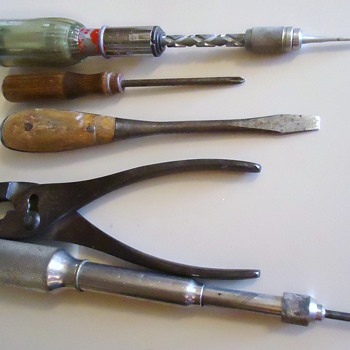 Old Tools from Kitchen drawer!  Many in garage in boxes from dad and farms