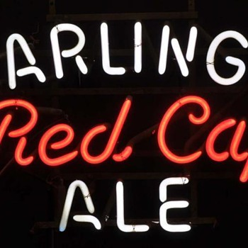 Carlings Red Cap Ale neon