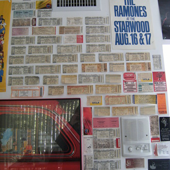 Rock Concert Ticket Stubs Collection