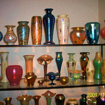 A sample of my American art glass collection.