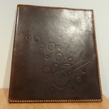 ART DECO LEATHER PHOTO ALBUM
