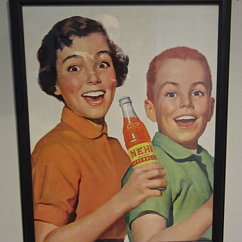 1950s Nehi cardboard sign - Advertising