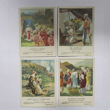 Vintage Christian Picture Lesson Cards - Paper