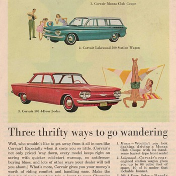1961 Chevy Corvair Advertisement - Advertising