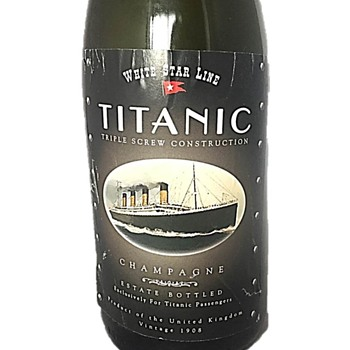 White Star Line Titanic Champagne Bottle