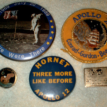 Apollo 11 and 12 Buttons - Military and Wartime
