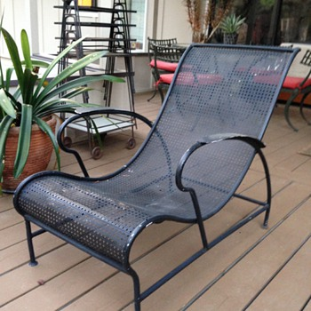 Mid Century Modern Perforated Chair