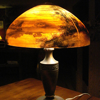 Reverse Painted Lamp -- Beautiful, but what is it worth! - Lamps