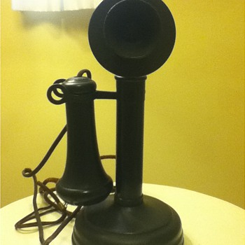1920s Kellogg Candlestick Phone w/Original Shipping Box - Telephones