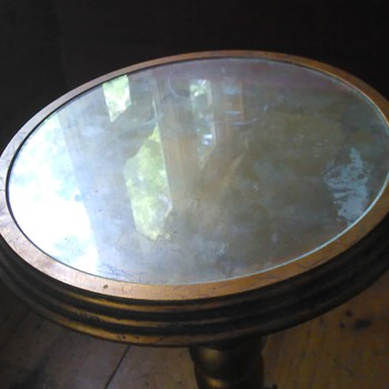 German vintage accent table....I think German?