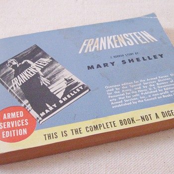 Frankenstein by Mary Shelley Rare Armed Services Edition #909, Council on Books in Wartime