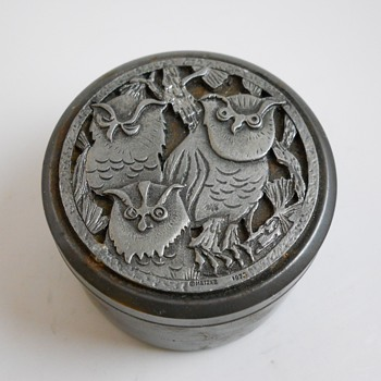 "Yard Sales Find 5 of 10, Vintage ""METZKE PEWTER TRINKET BOX"" Circa 1976 - Furniture"