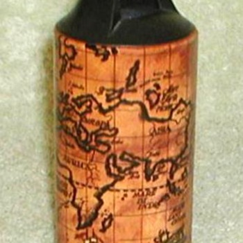 1972 - Wild Cricket Rustic Map Lighter Holder - Tobacciana