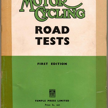 "1952 - ""Motor Cycling"" Road Tests - Book"