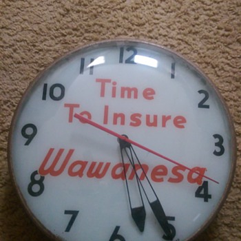 Wawanesa Insurance Light Up Clock