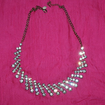 Cara N.Y. Rhinestone Costume Necklace