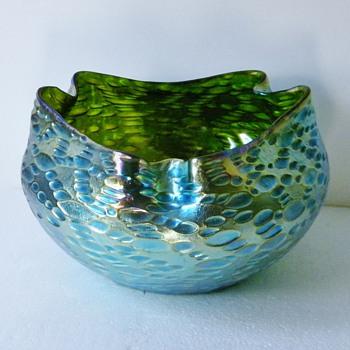 Art Nouveau Loetz Creta Silberiris Diaspora bowl
