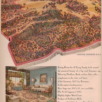 1950 Lanamar Carpet Advertisement - Advertising
