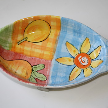 Mid-Century plate/platter side  - Kitchen