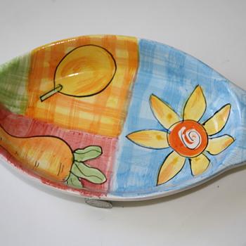 Mid-Century plate/platter side