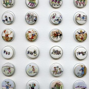 Mother Goose Nursery Rhyme button sets..Lois Calkins