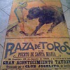 1926 PLAZA DE TOROS BULL FIGHTING POSTER PAINTED 