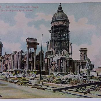 1906 Earthquake Postcard