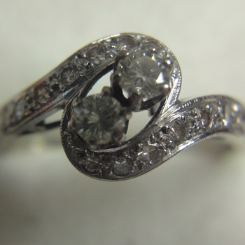 My grandmother&#039;s white gold brilliant ring - Fine Jewelry