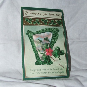 St. Patrick's Day Greetings Postcard - Postcards