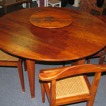 Interesting Mid Century Table W/ Centerpiece