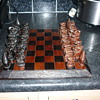 chess set strange figures