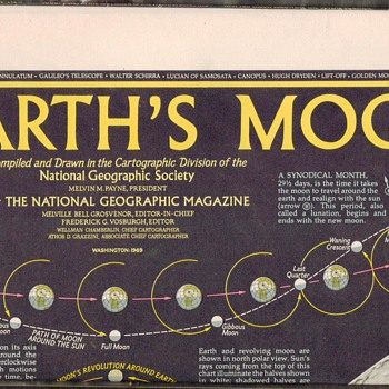 1969 - Earth's Moon Wall Map - Paper