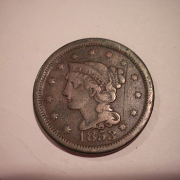 1853 Large cent - US Coins