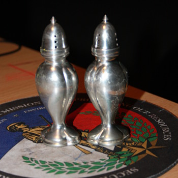 medal and Crystal Salt and Pepper Shakers.