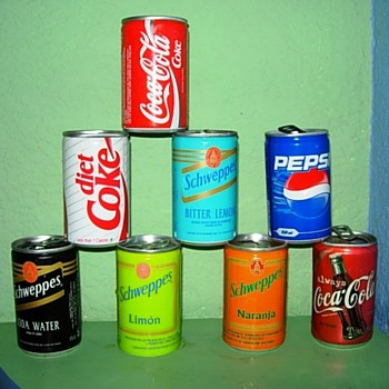 Airline Coke and Soda cans - Advertising