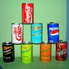 Airline Coke and Soda cans