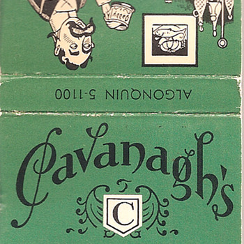 Mustache Mug Matchbook from Cavanagh's - Tobacciana