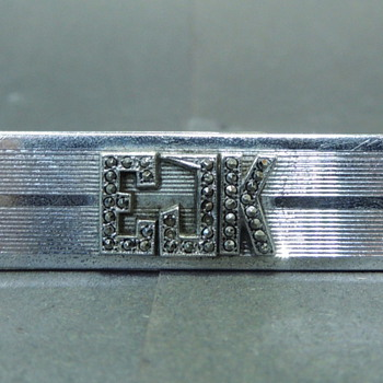 My Grandfather's Sterling Silver Tie Clip - EJK - Silver