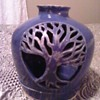 Blue Pottery Candle Holder