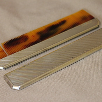 1940's T & S Silver Comb - Sterling Silver