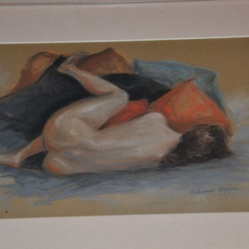 Nude Woman Painting Watercolor by Edward Hopper Real?