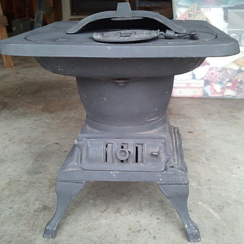 Old cast iron stove
