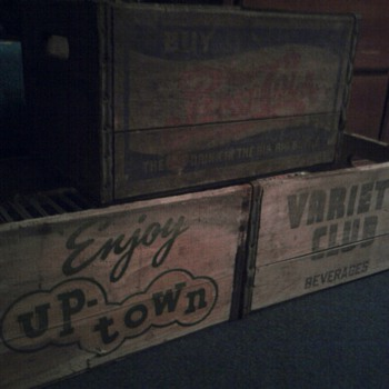 Various Wooden Soda Crates
