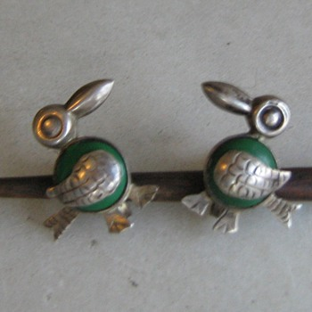 1940's/50's Mexico sterling bird clip earrings - Fine Jewelry